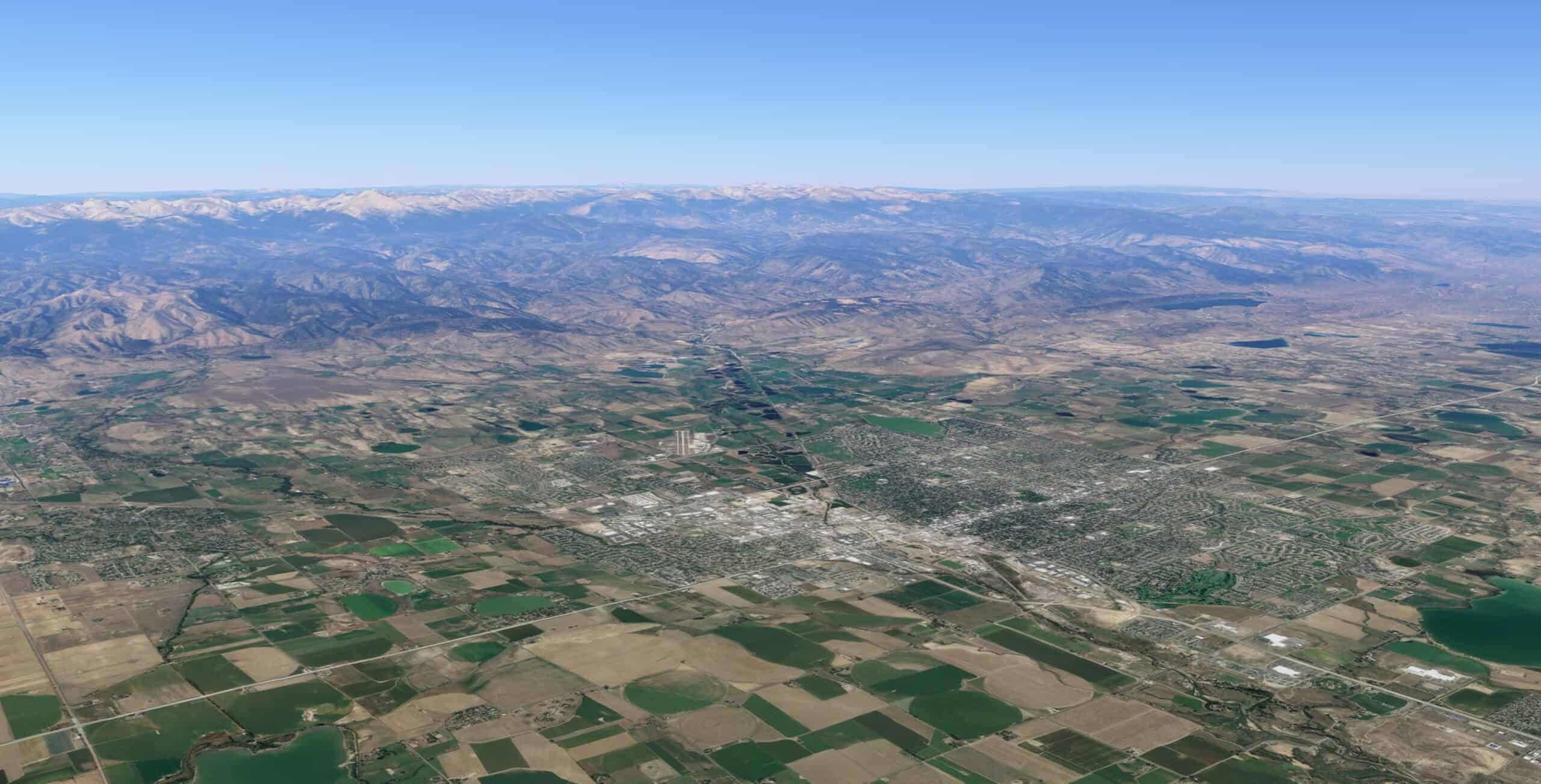 Aerial view of Longmont