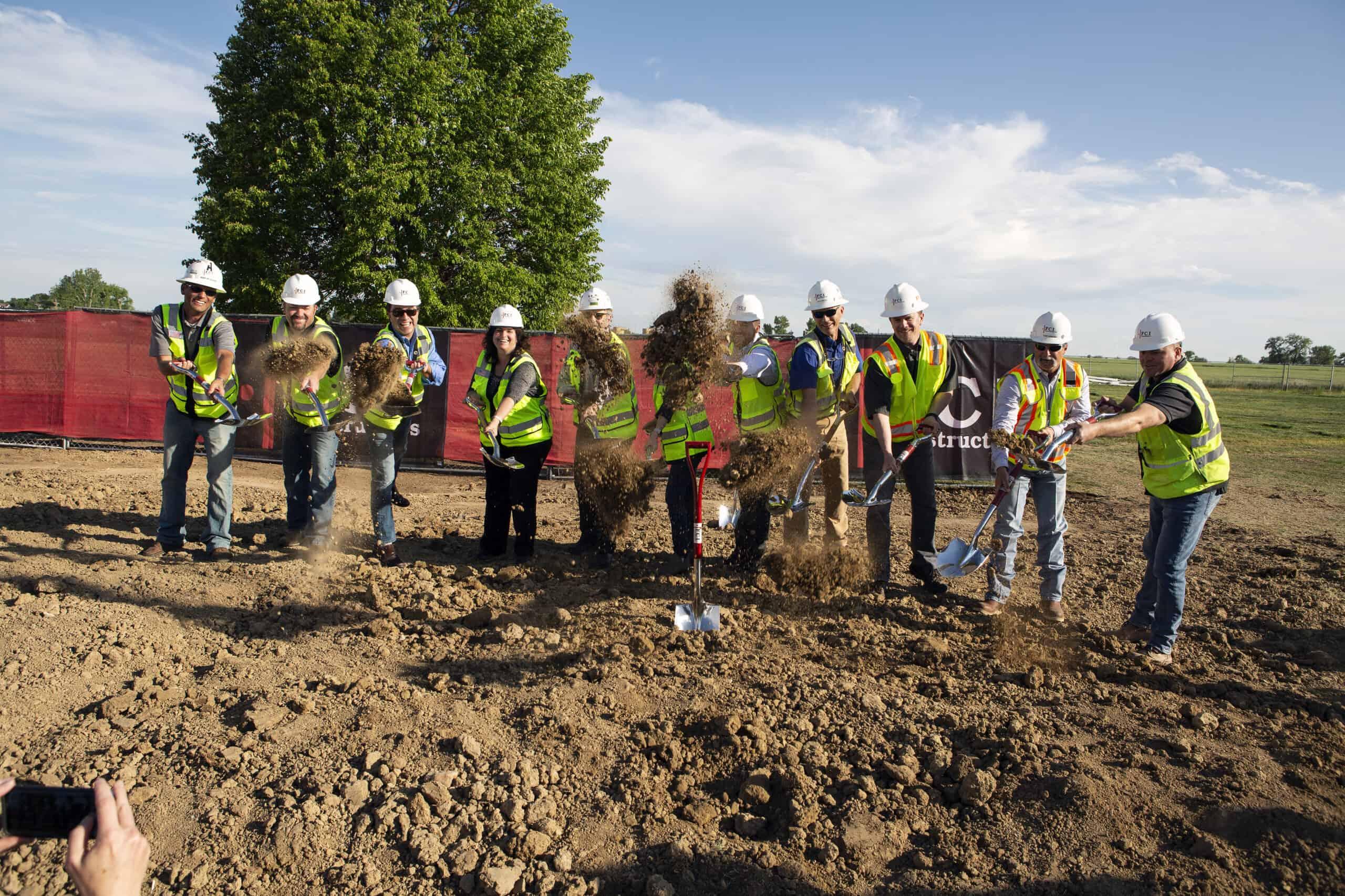 Groundbreaking ceremony of new school