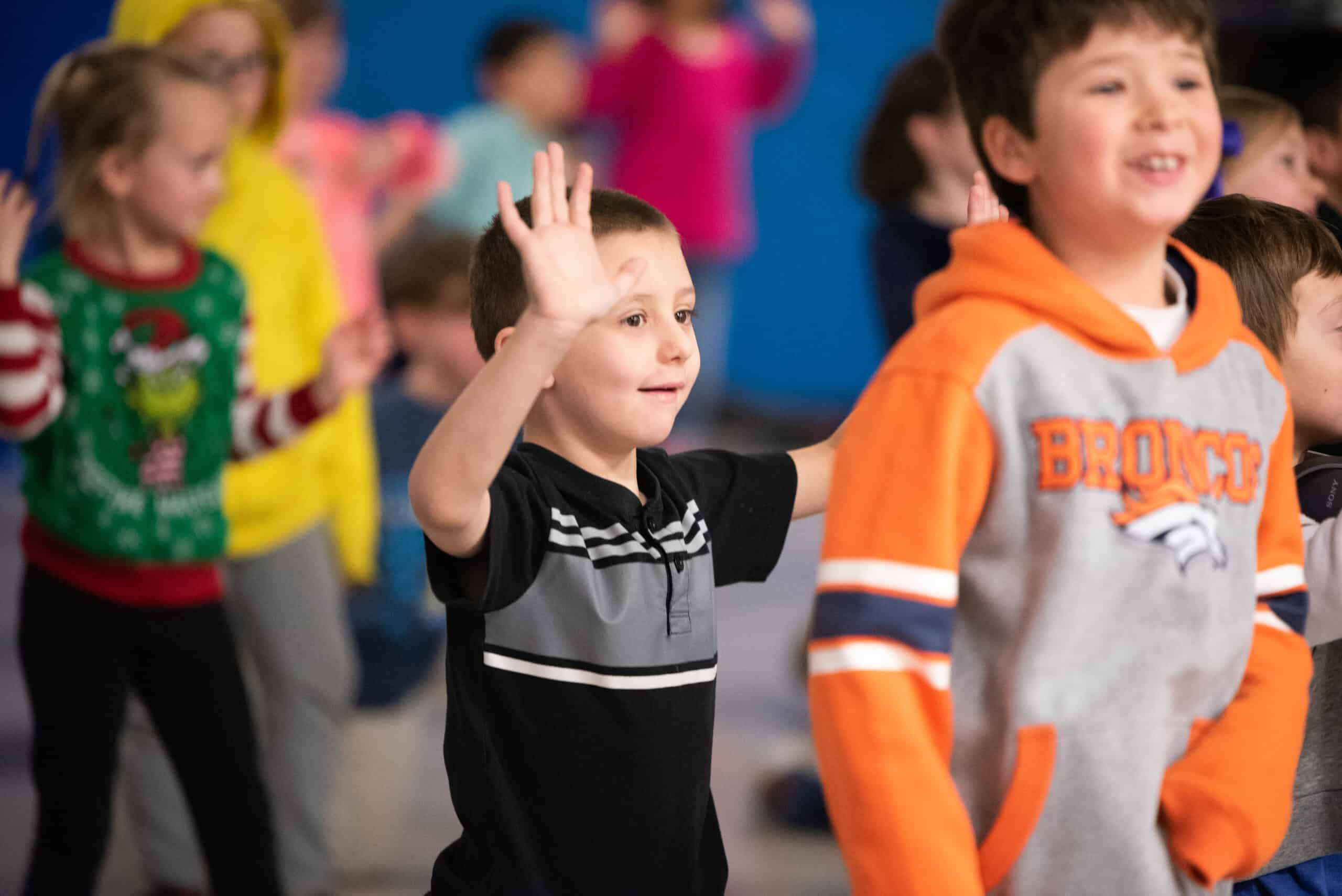 Burlington Elementary student dancing
