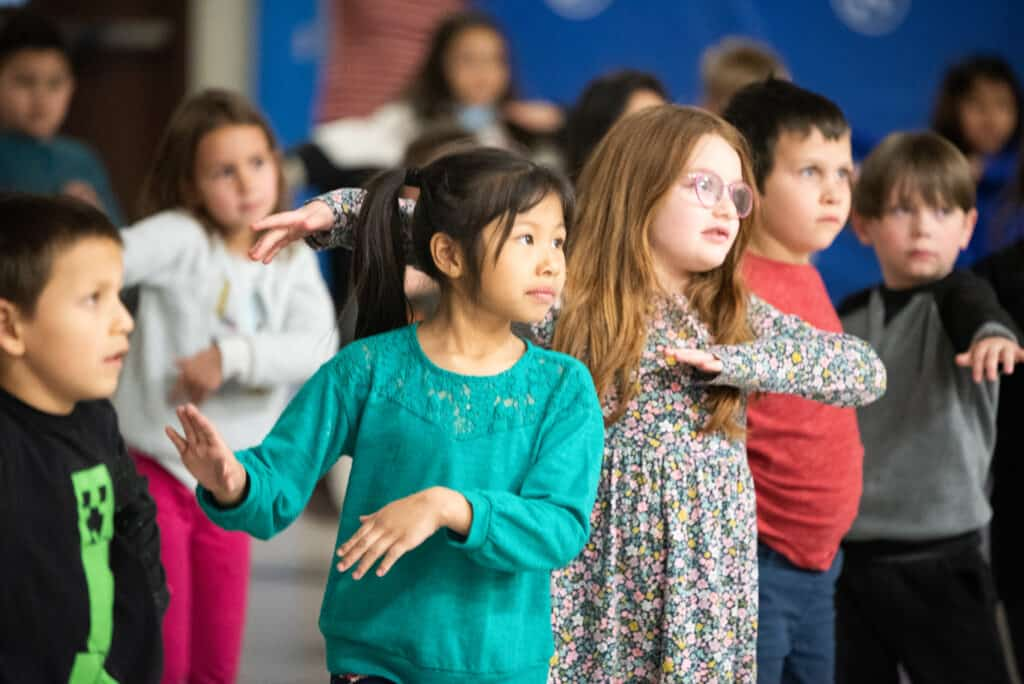 Burlington Elementary students dancing