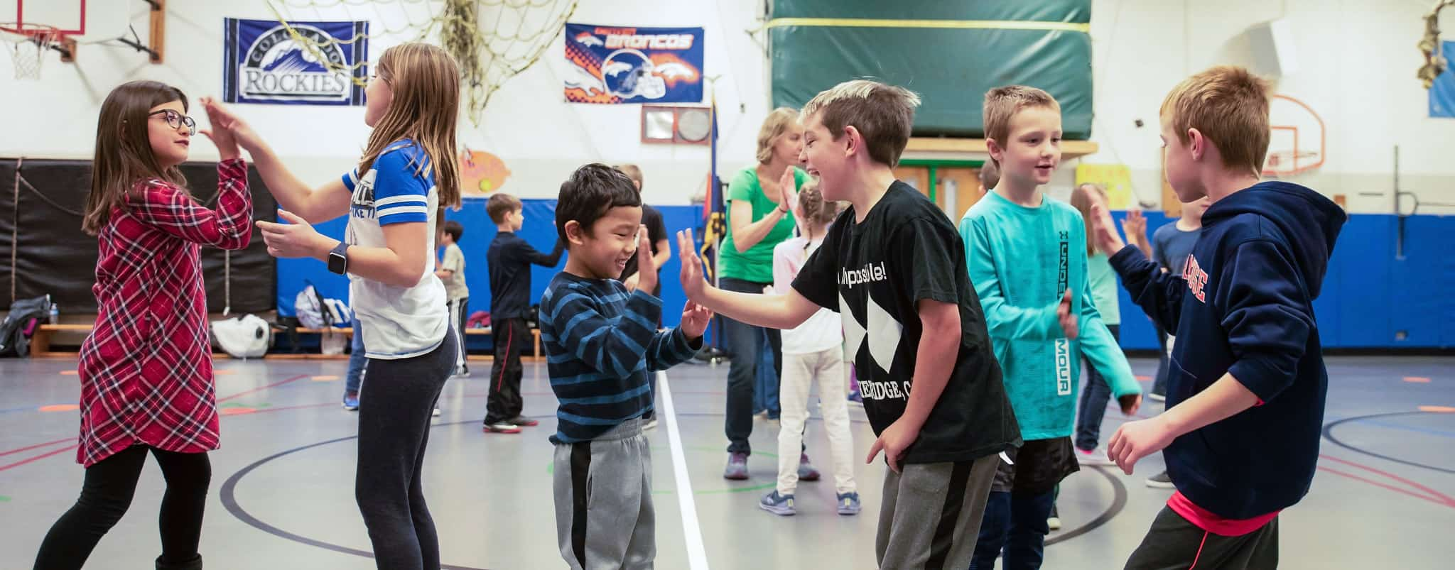 Niwot Elementary PE class