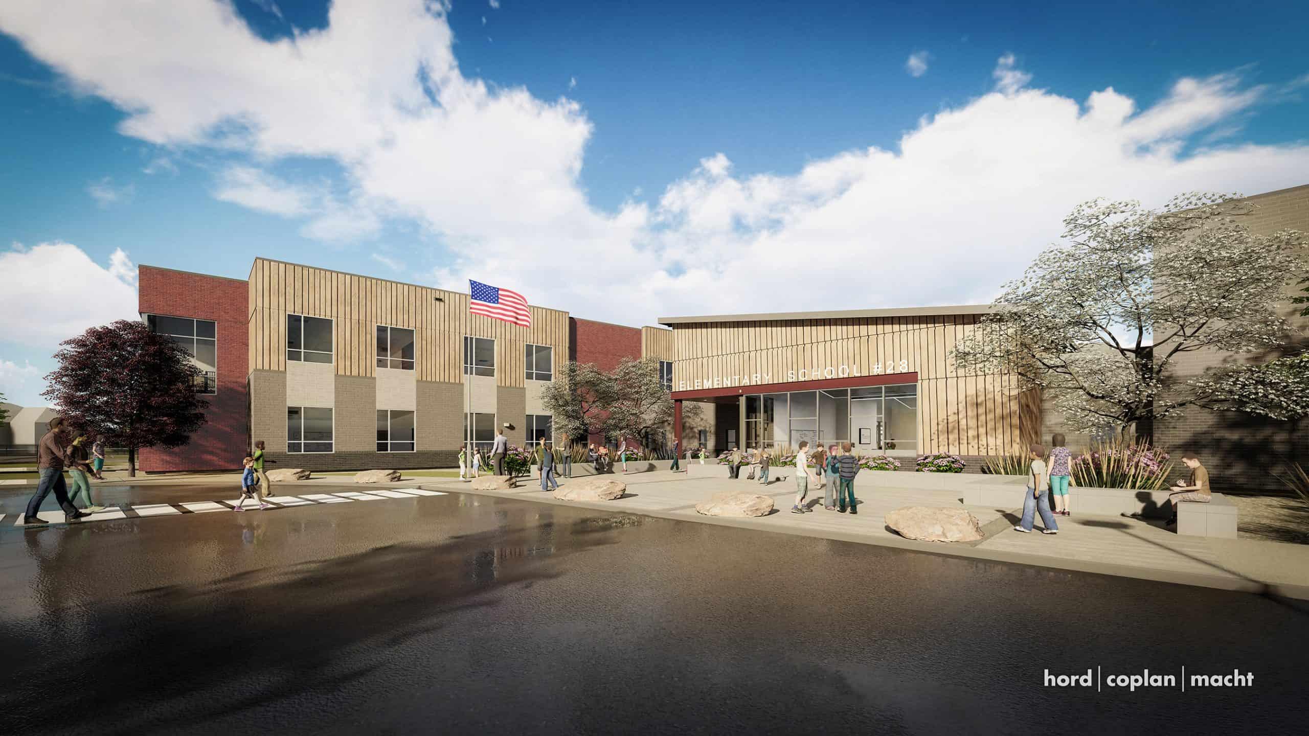 rendering of highlands elementary